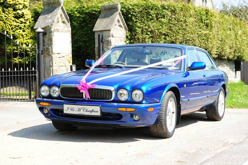 Blue Wedding Car Jaguar XJ8